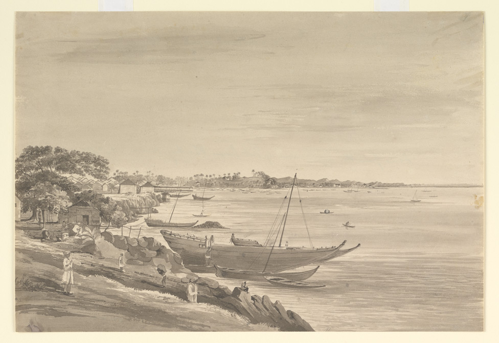 Inscribed on reverse: ' View from the Esplanade of Fort George Bombay towards Mazagon'